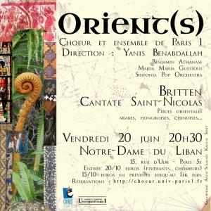 Flyer carré concert Orient(s)