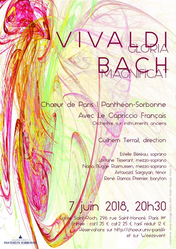 Affiche Magnificat de Bach & Gloria de Vivaldi